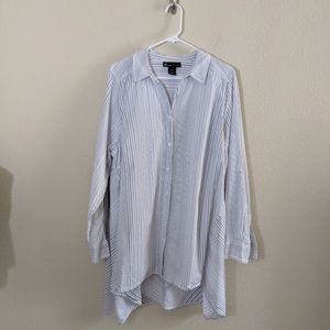 Lane Bryant | Striped Button Shirt